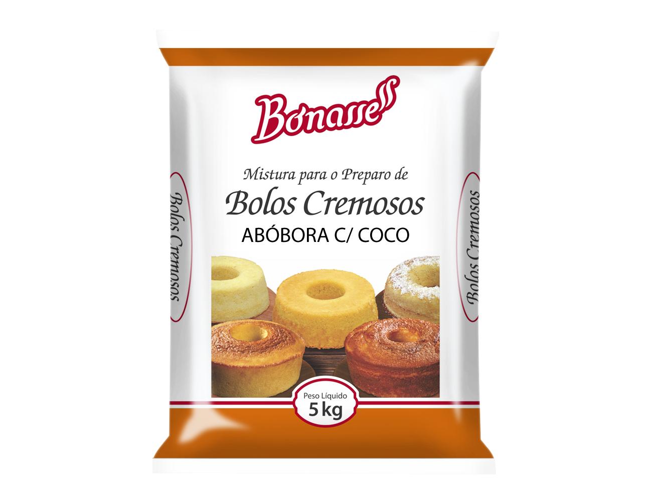 Mistura Bolo Cremoso Abóbora com Coco
