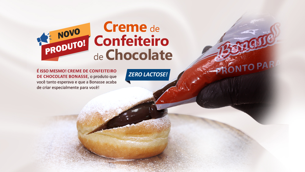 Lançamento Creme de Confeiteiro de Chocolate