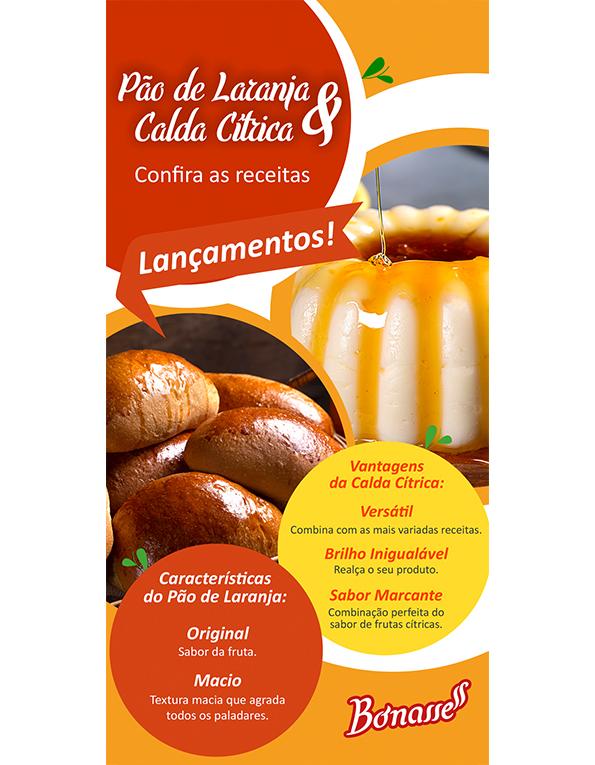 Receituário Pão de Laranja & Calda Cítrica
