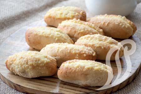 Pão de Cebola com Creme Branco